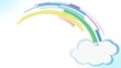 cartoon Clouds Rainbow Strips creation