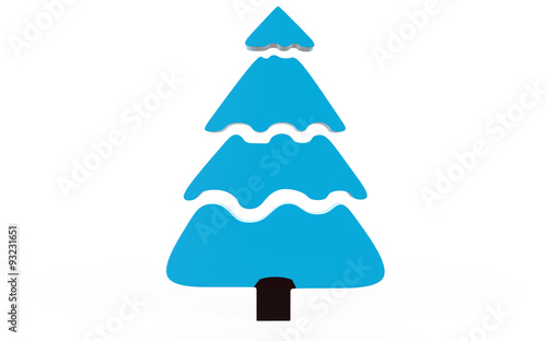 Christmas Tree With Snow In Sky Blue Colour Cartoon Tree Abstract Art Buy This Stock Illustration And Explore Similar Illustrations At Adobe Stock Adobe Stock
