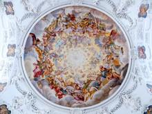 The Ceiling Paintings Of The Mediaeval Era Church St. Quirinus