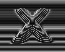 Linear 3d Font Letter X