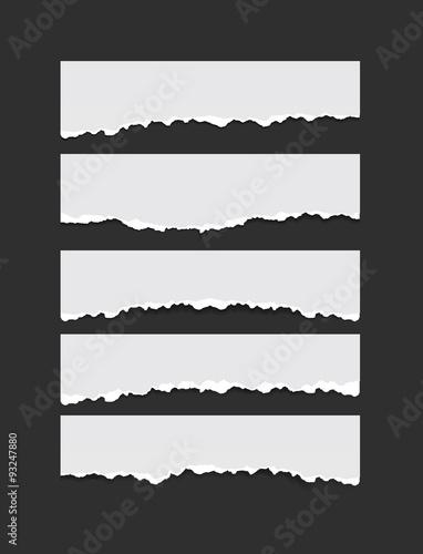 set of torn paper – kaufen Sie diese Vektorgrafik und finden Sie ...