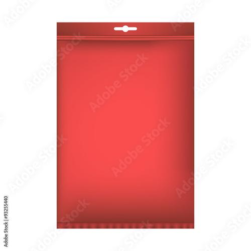 Fotografie, Obraz  Package mock up. Vector illustration