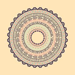 Panel Szklany Boho Ethnic Aztec circle ornament