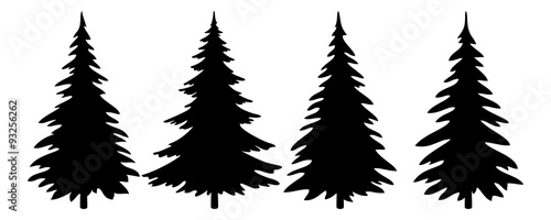 Fotografia Christmas Trees Pictogram Set