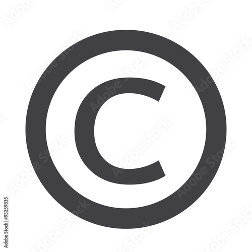 copyright symbol icon Wall mural