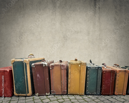 Photo sur Toile Retro Suitcases