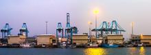 Cargo Port In  Twilight