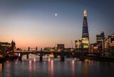 Fototapeta Londyn - The Shard and River Thames, London