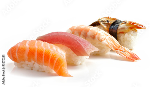 Photo  various sushi