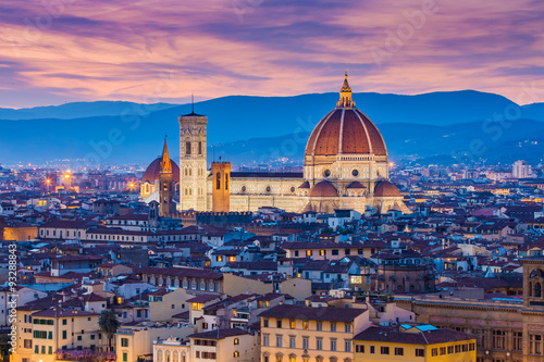 Photo sur Toile Florence The twilight of Florence in Tuscany, Italy