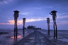 Four Fishermen Sculptures At L...