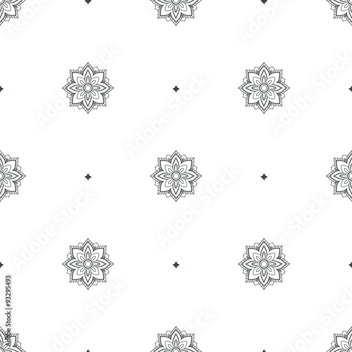 Floral seamless pattern,vector texture Wallpaper Mural