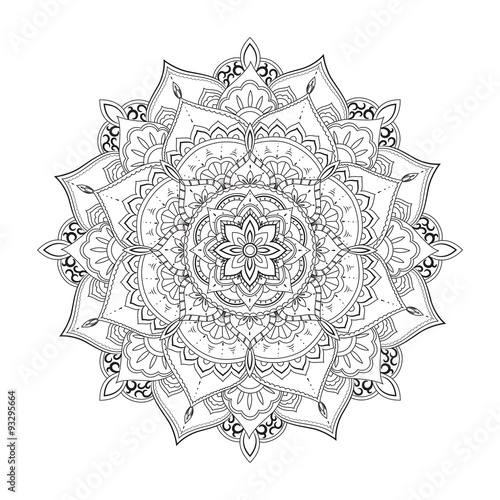 Photo  Ornamental circle pattern. Mandala