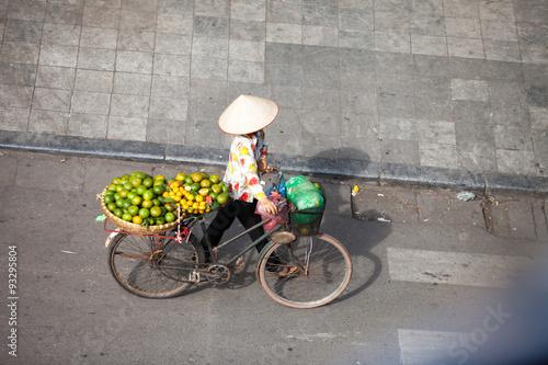 Hanoi, Vietnam, December 8, 2014: Life in Vietnam- Hanoi,Vietnam Street vendors in Hanoi's Old Quarter( Pho Co Hanoi)