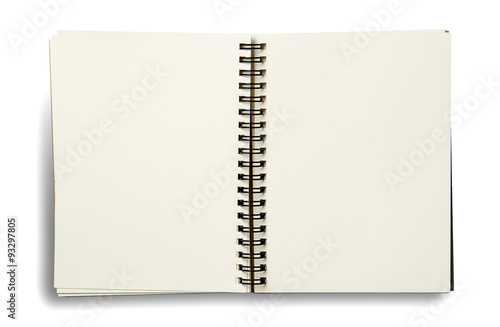 Fotografie, Tablou  notebook. textured isolated on the white backgrounds