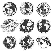 Globe Concept Illustration Set...