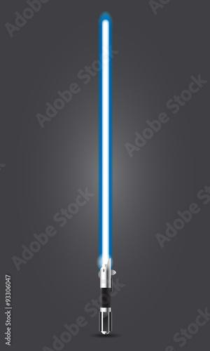 Spada laser blu Wallpaper Mural