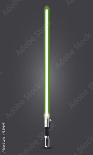 Obraz na plátně Spada laser verde