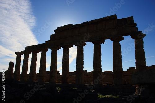 Poster Ruine selinute trapani antica civiltà della grecia