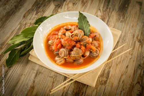 Fotografie, Obraz  Lumache al sugo, Cucina Sarda