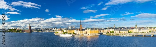 Aerial view of Stockholm, Sweden Canvas Print