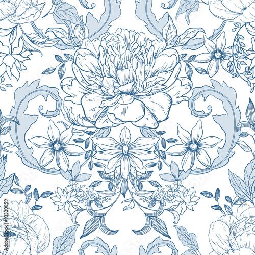 Photo  Vintage floral background