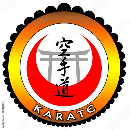 Photo  Emblema karate ouro com portal