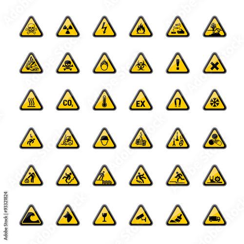 Fotografie, Obraz  Picto danger