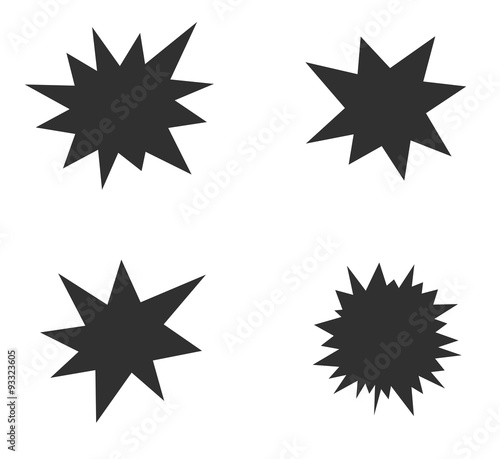 Obraz starburst splash star icon - fototapety do salonu