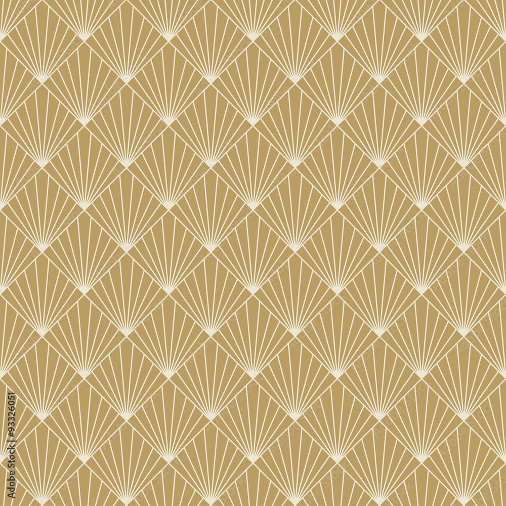 art deco sunburst pattern