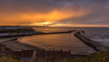 Beautiful Whitby Harbour Sunset