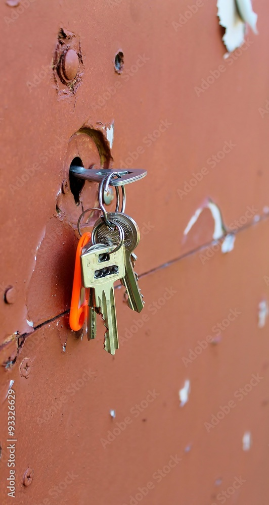 Fototapeta klucze w zamku