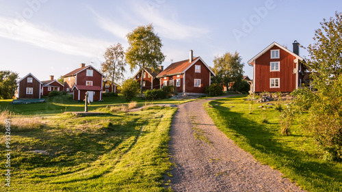 Fotomural  Traditionial village on the island Harstena in Sweden, principal