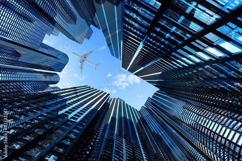 Obraz na płótnie Przytłaczająca architektura wielkich miast