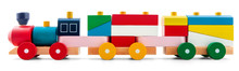 Wooden Toy Train With Colorful...