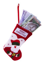 Christmas Sock And Money
