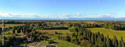 Aquileia - widok na okolicę z wieży dzwonów Wallpaper Mural