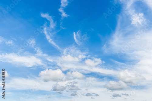 Foto op Canvas Luchtsport blue sky with cloud