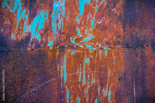 Foto auf AluDibond Graffiti Rusty metal background.