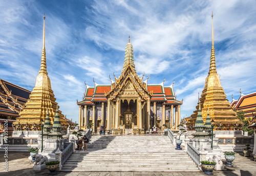 Photo  Wat Phra Kaew, Temple of the Emerald Buddha, Bangkok, Thailand.