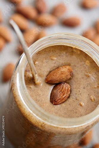 Fotomural  Almond Butter in Glass Jar