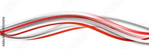 Fototapeta welle wellen rot Hintergrund Banner Band obraz