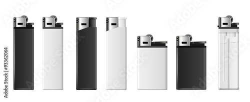 Lighters set Wallpaper Mural