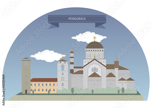 Poster Castle Podgorica, Montenegro