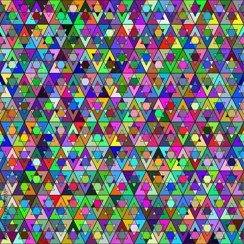 Foto op Aluminium Pixel Abstract seamless pattern. A geometric design.