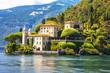 Leinwanddruck Bild - romantic Lago di Como - Villa del Balbinello. Italy
