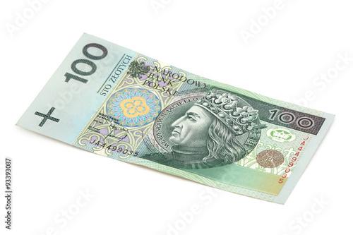 Fotografía 100 Zloty freigestellt