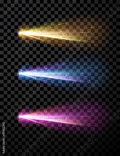Obraz Comet set background. - fototapety do salonu