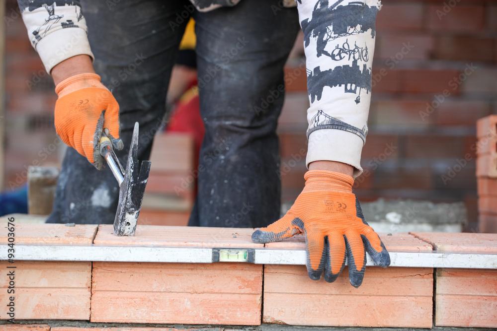 Fototapeta bricklayer - obraz na płótnie