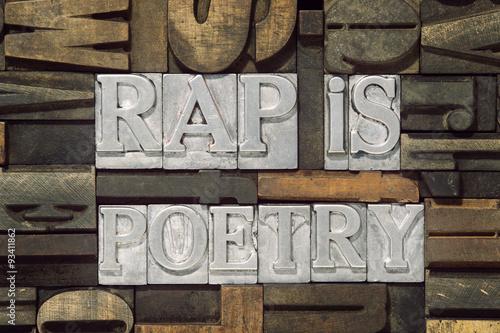 Photo  rap is poetry